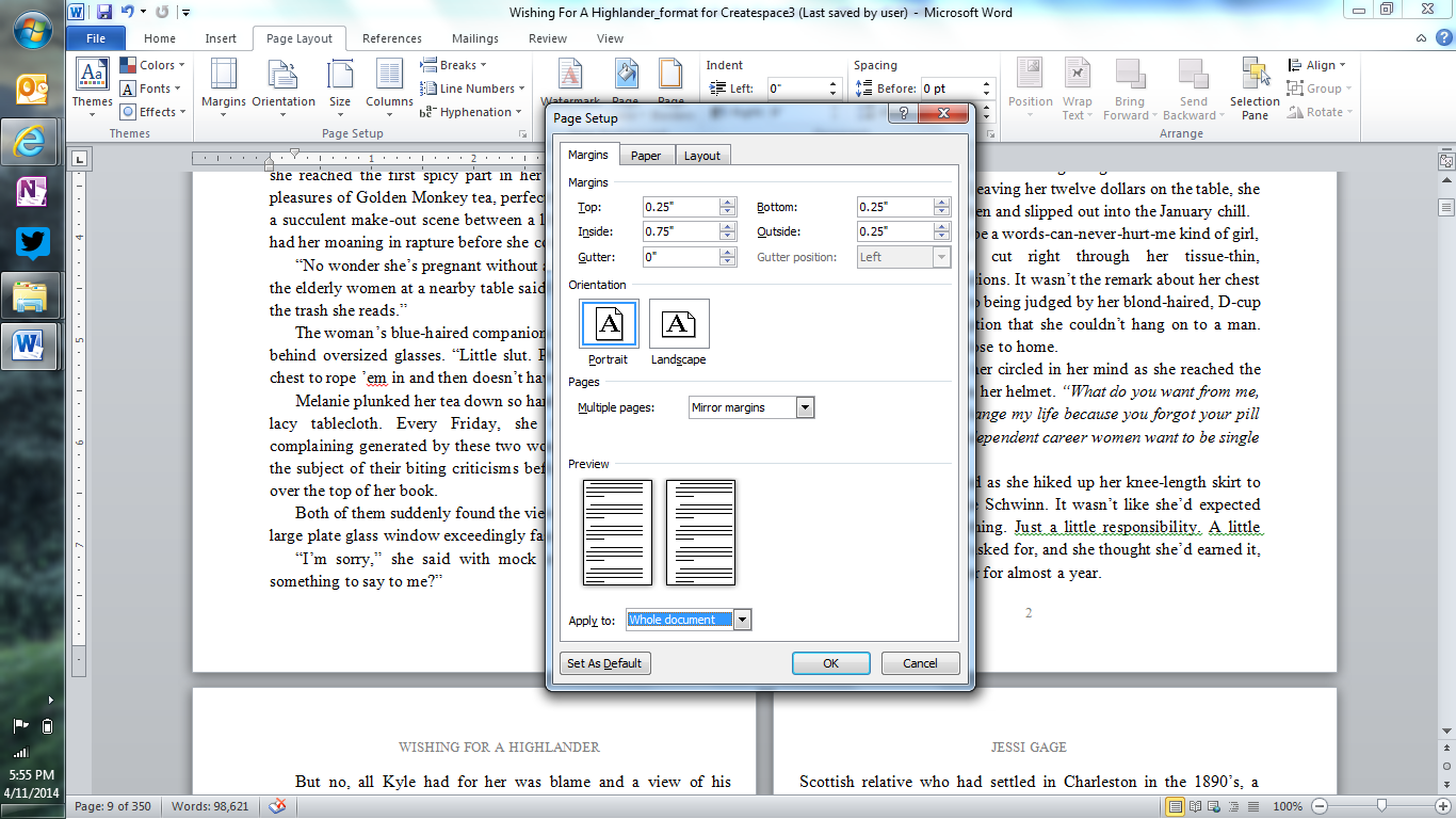Formatting Word Documents For Createspace Jessi Gage A
