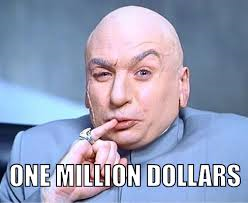 one million dollars