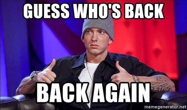 Eminem im back